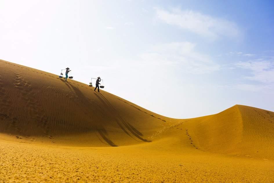 Mui Ne red sand hills in Binh Thuan, Vietnam.