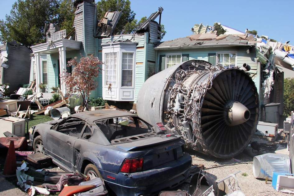 War of the Worlds set at Universal Studios, Hollywood