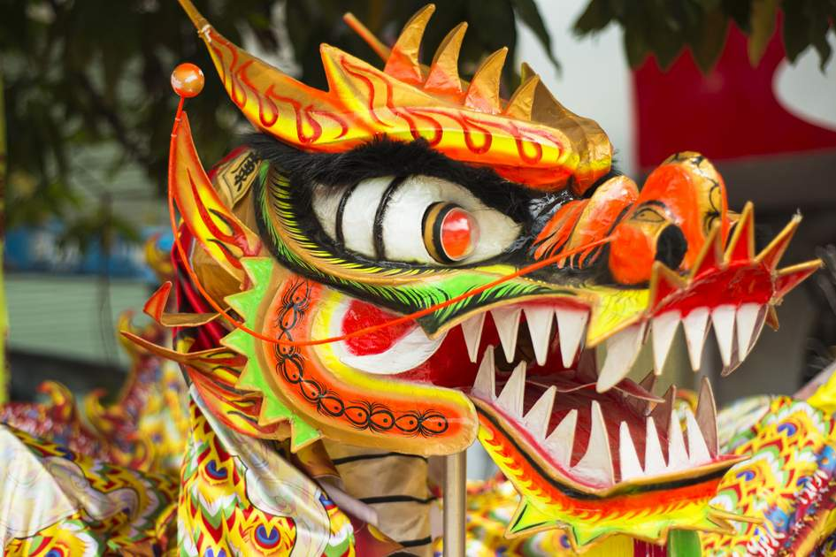 A traditional Chinese Dragon in a Chinese New Year Parade. Photo: Shutterstock