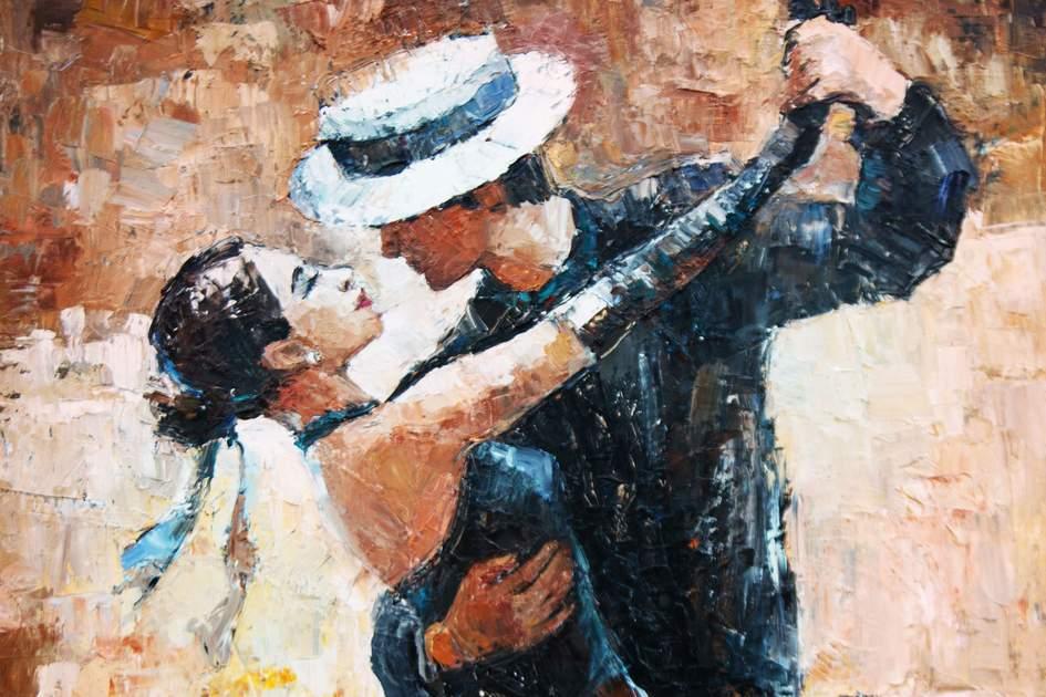 Tango dancers in Argentina.