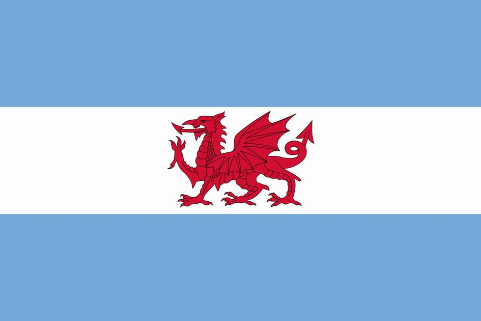 Flag of the Welsh colony in Patagonia