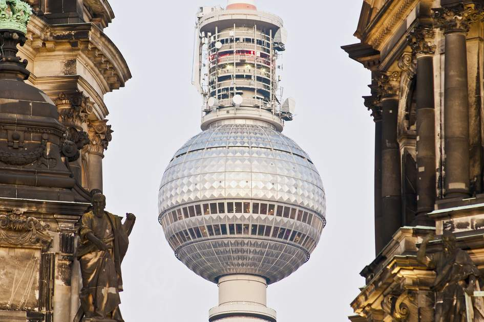 The Fernsehturm (Television Tower) in Berlin