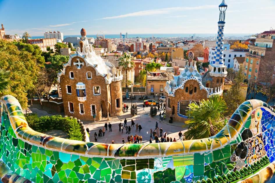 Visiting Barcelona: Gaudi's colourful Park Güell