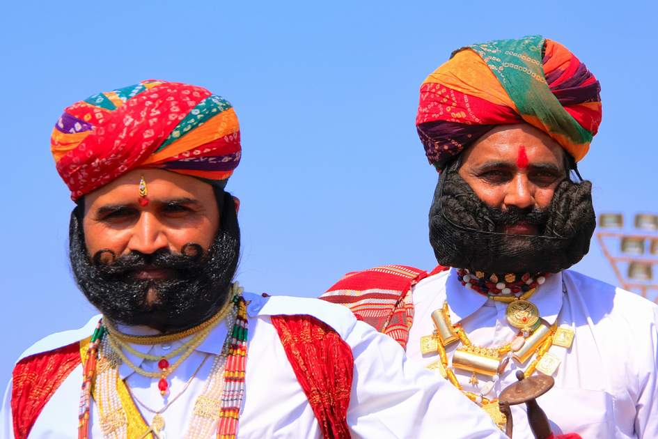 Mr Desert competition in Jaisalmer, India. Main purpose of this Festival is to display colorful culture of Rajasthan