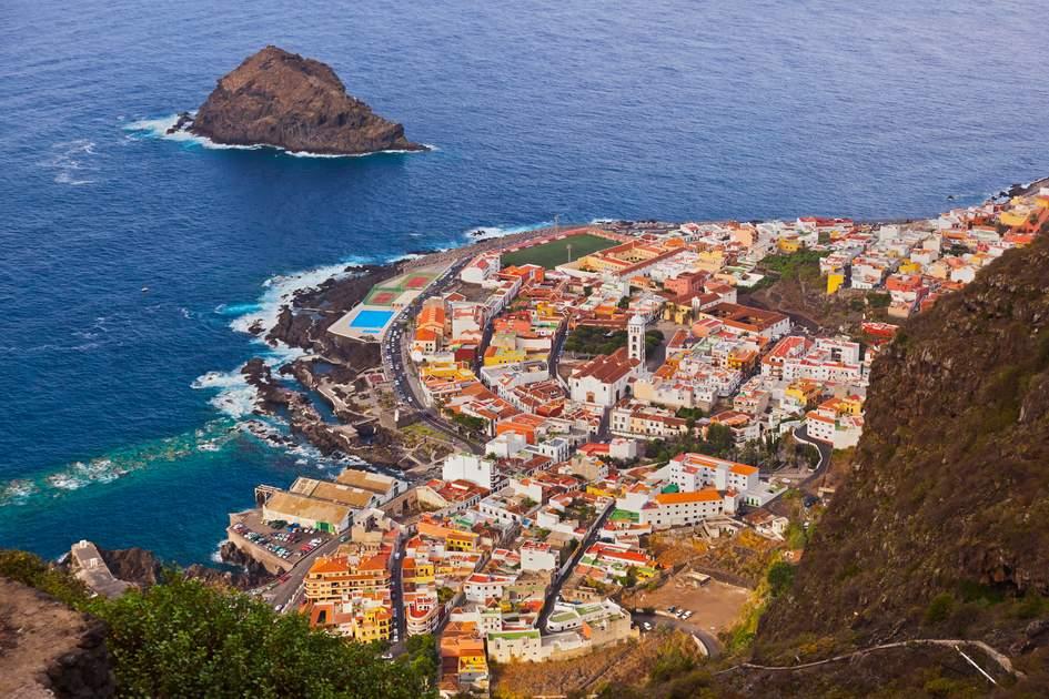 Garachico in Tenerife island, Spain.