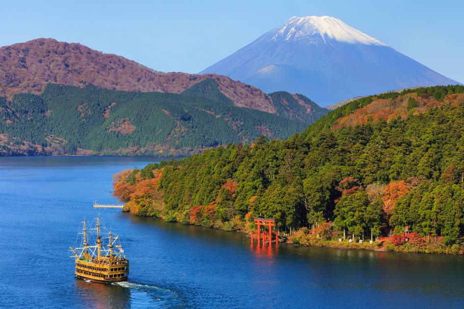 Mountain Fuji and Lake Ashi, Japan
