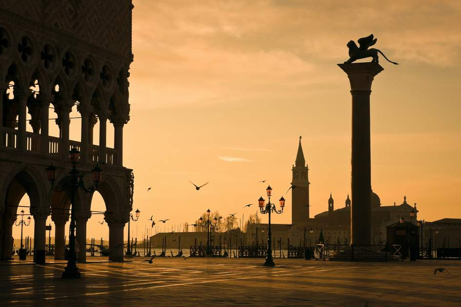 Palazzo Ducale at dawn, Venice