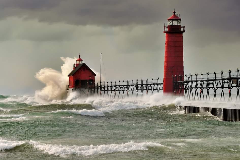 Grand Haven Lighthouse, Michigan, USA