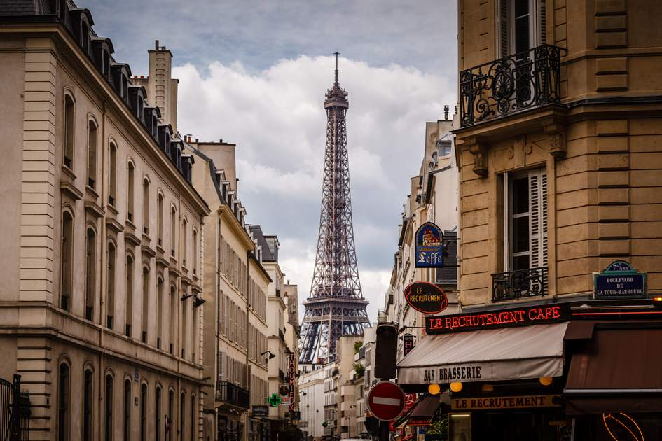 The iconic Eiffel Tower – you can't miss it