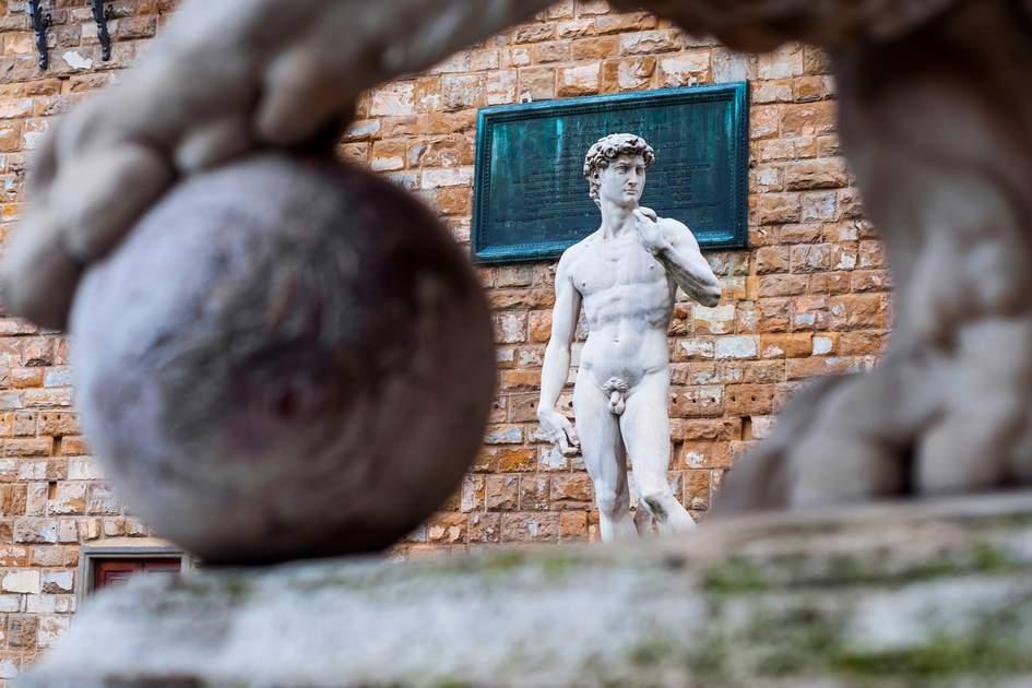 David statue on Piazza della Signoria, Florence