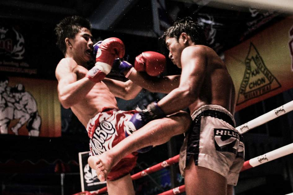 Thai boxing at Khoa Kittisukato temple Hua Hin Thailand