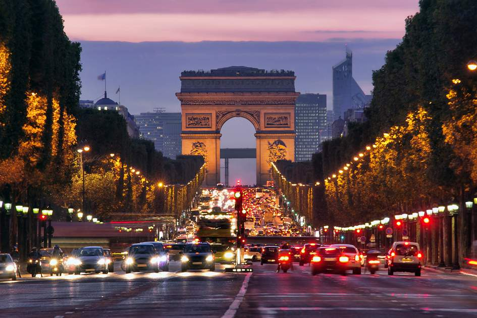 The Champs-Elysées, the most famous avenue in the world.