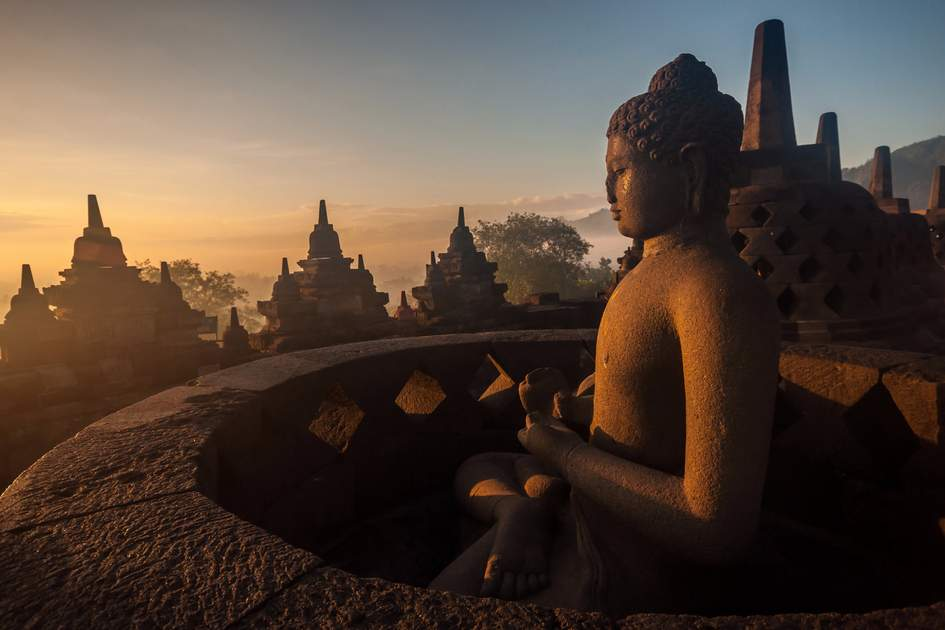 Located in Java, Indonesia, the Unesco-declared World Heritage Site of Borobudur Temple is one of the oldest temples in the world. It dates back to the 9th century, and took 75 years to build.