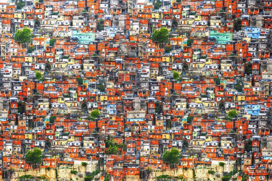 Colourful favela houses in Rio de Janeiro, Brazil. Photo: Shutterstock