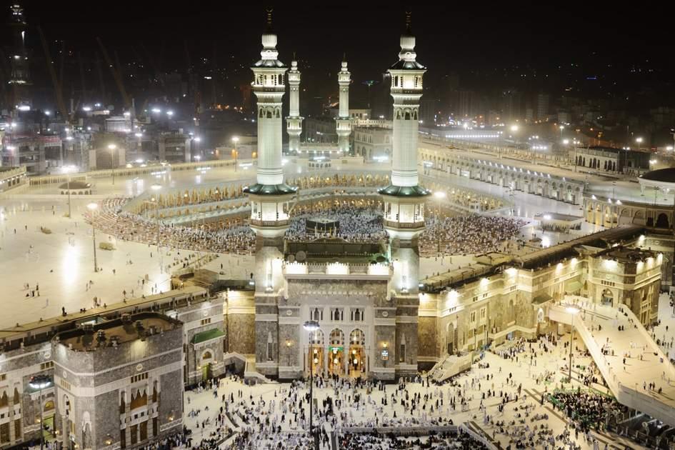 Islam's most sacred mosque, Al-Masjid al-Haram, in Mecca, Saudi Arabia