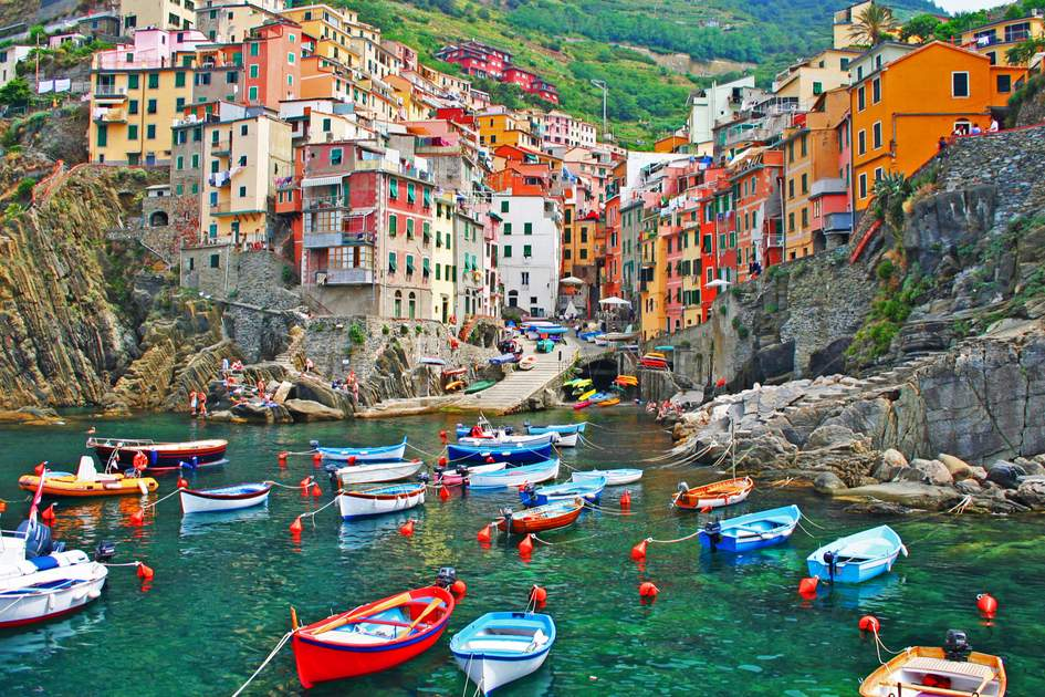 The idyllic Italian seaside village of Riomaggiore