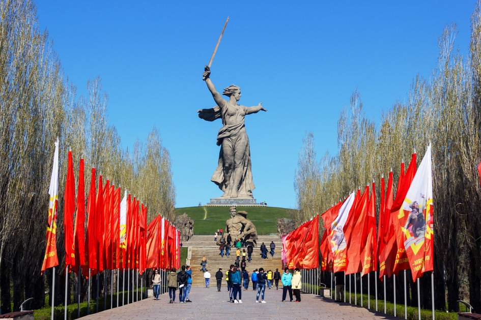 Monument in Volgograd, Russia