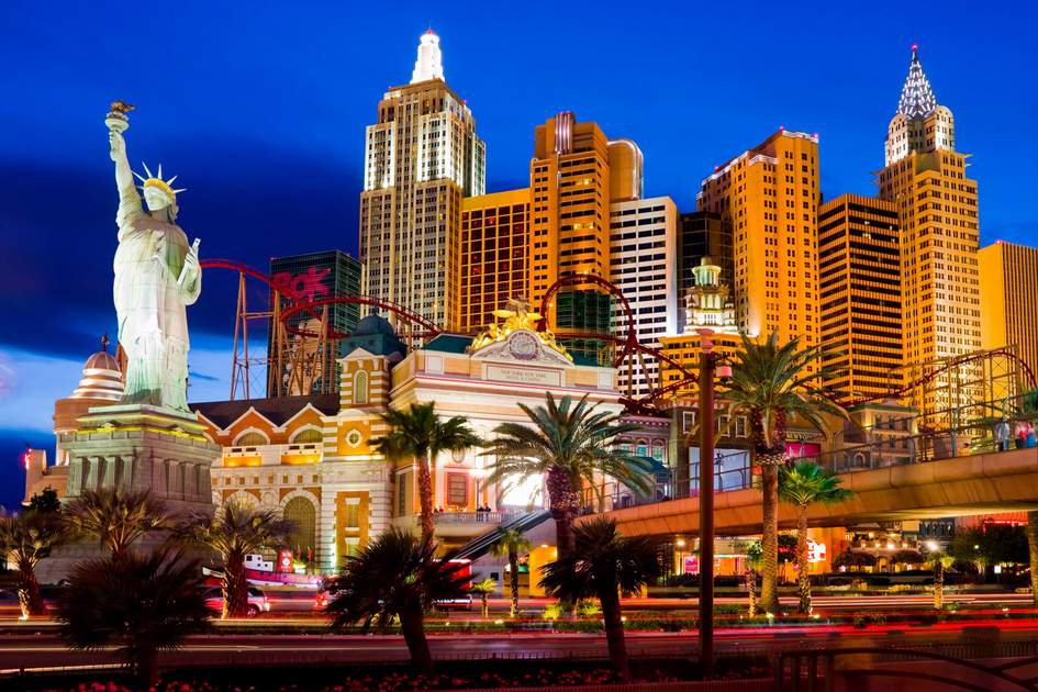 New York-New York located on the Las Vegas Strip