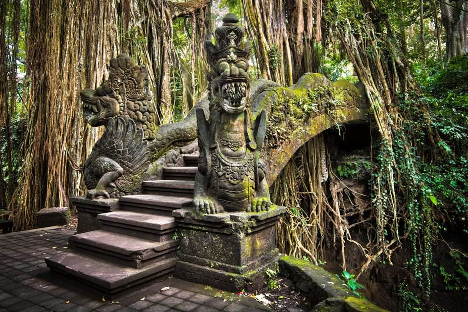 Sacred Monkey Forest, Ubud, Bali, Indonesia.
