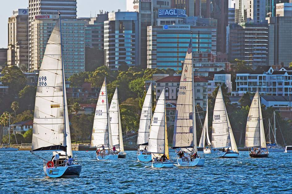 Yachts in Sydney Harbour, Australia