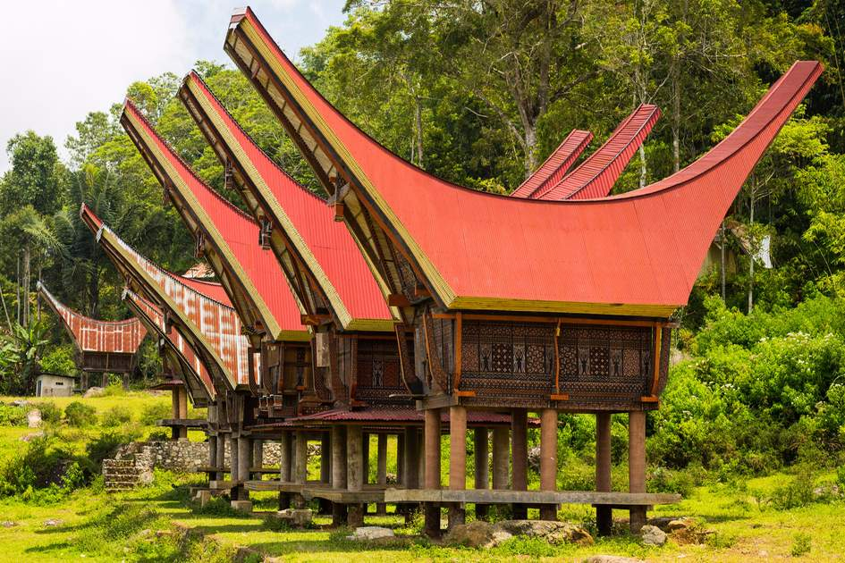 Traditional village dwellings, Tana Toraja, Indonesia