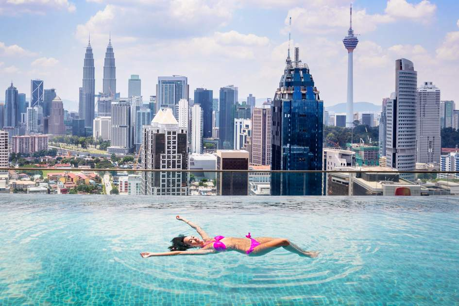 A pool with a view, Kuala Lumpur