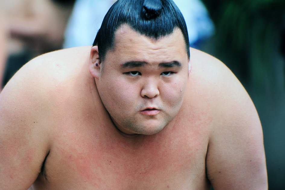Sumo wrestler at the Tokyo Spring Tournament, Japan