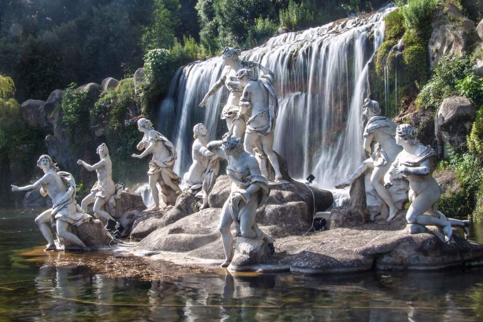The Diana and Actaeon Fountain at the Palace of Caserta, Southern Italy
