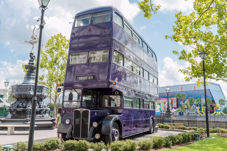 Knight Bus.The Wizarding World of Harry Potter - Diagon Alley of Universal Studios Orlando. Photo: Shutterstock