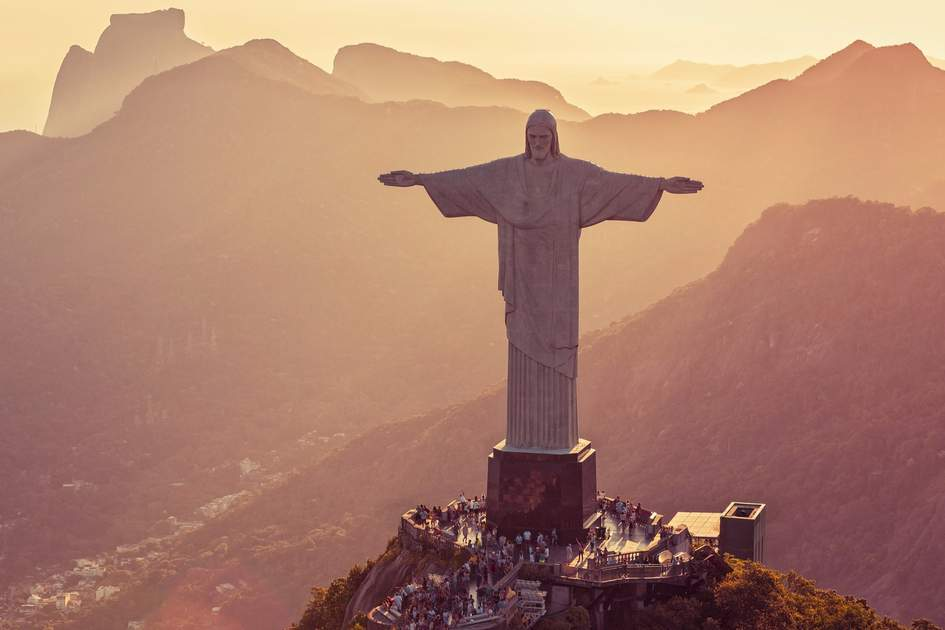 Aerial view of Christ The Redeemer Statue