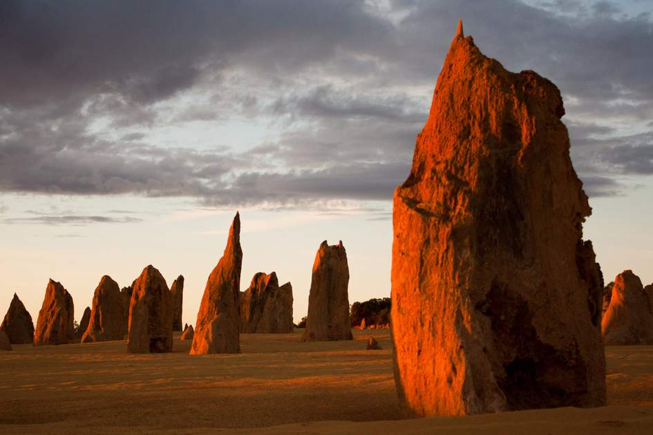 Limestone formations in the Pinnacles Desert, Western Australia