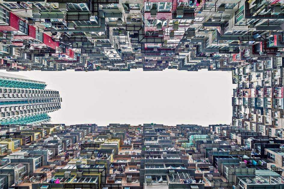 Dense residential buildings in Hong Kong