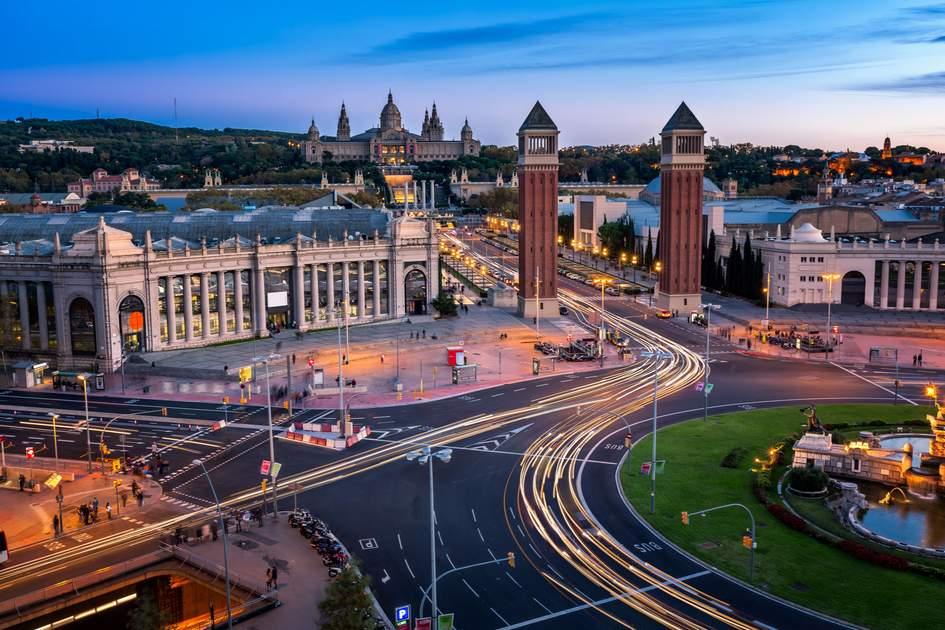 Plaça d'Espanya in Montjuic, Barcelona