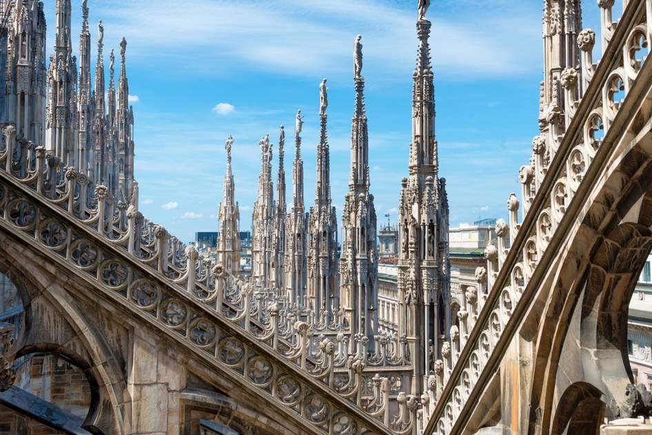The famous Duomo di Milano, Italy