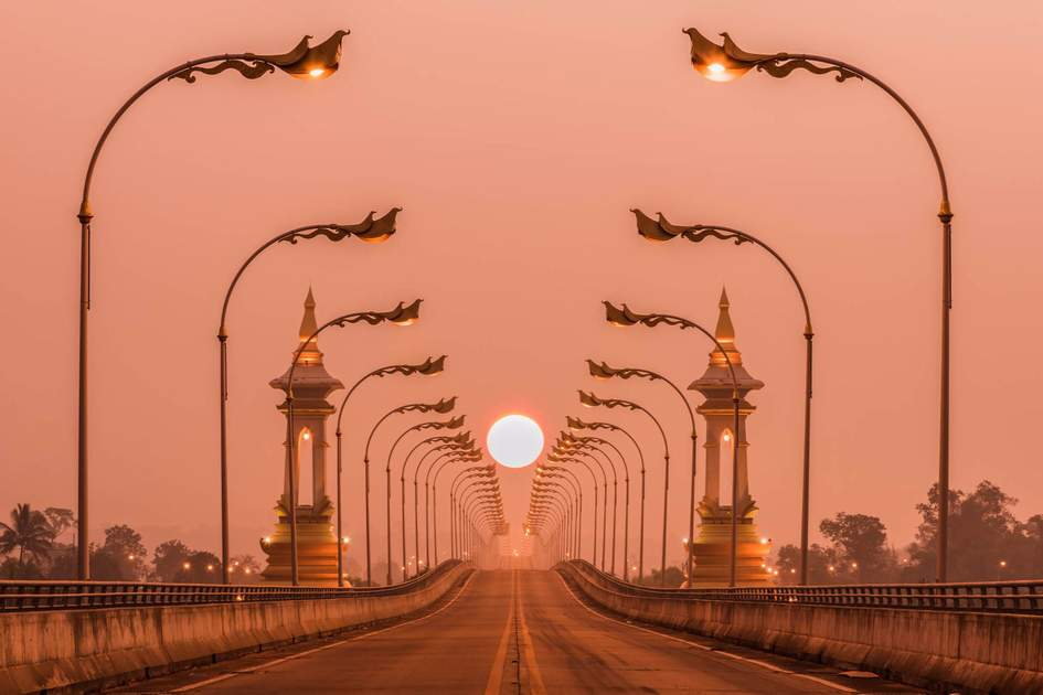 Third Thai-Laos Friendship Bridge.