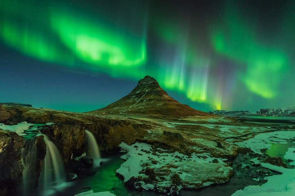 Northern Lights at Kirkjufell, Iceland. Photo: Shutterstock