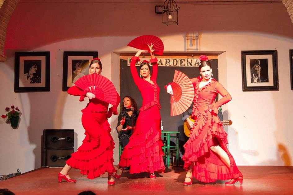 Flamenco dancers and singers performing in Cordoba, Spain. Photo: Shutterstock