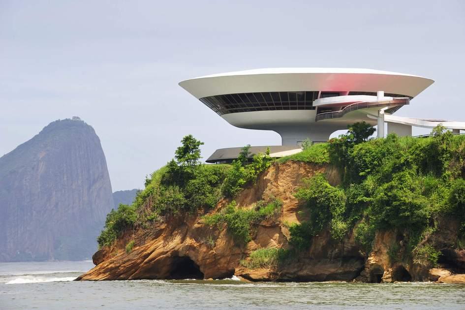 Oscar Niemeyer's saucer-shaped Museum of Modern Art, Rio de Janeiro