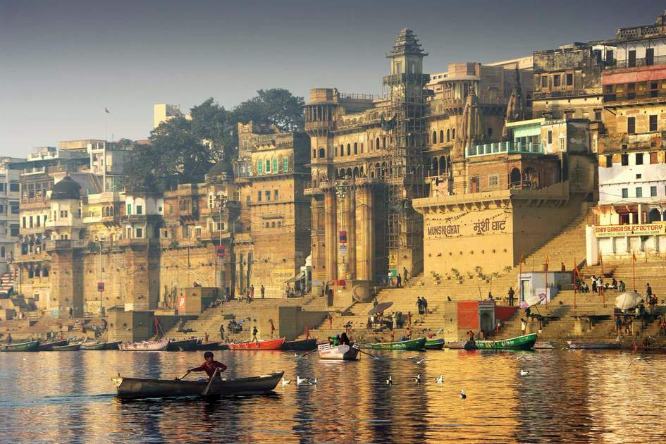 Boating on the Ganges, Varanasi, India