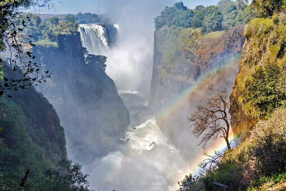 The Victoria falls in Zambia