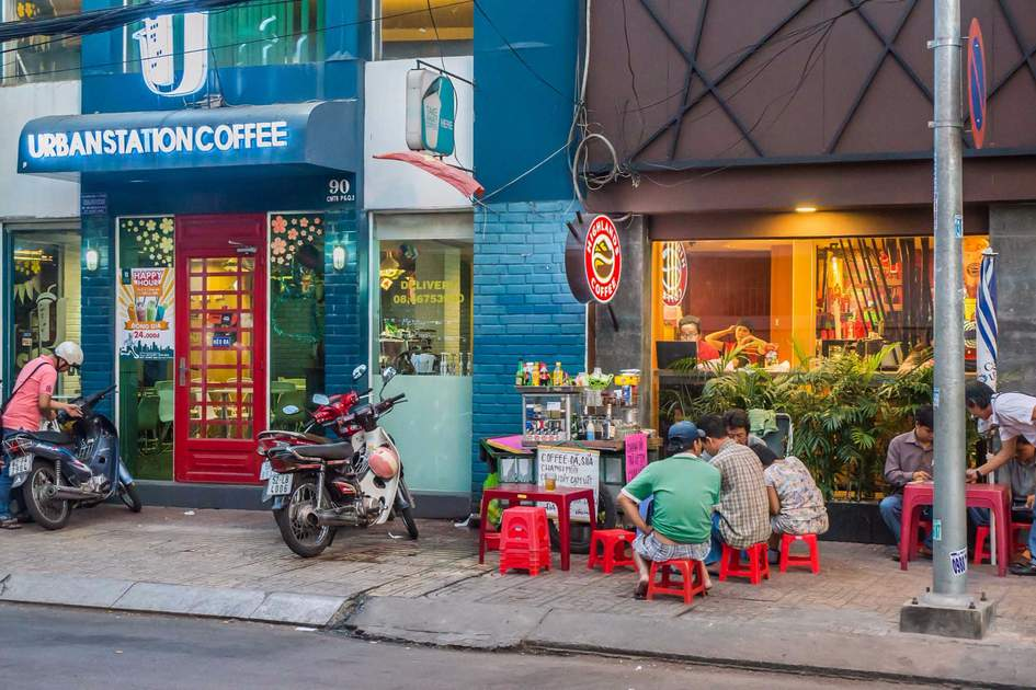 Street food in Ho Chi Minh City.