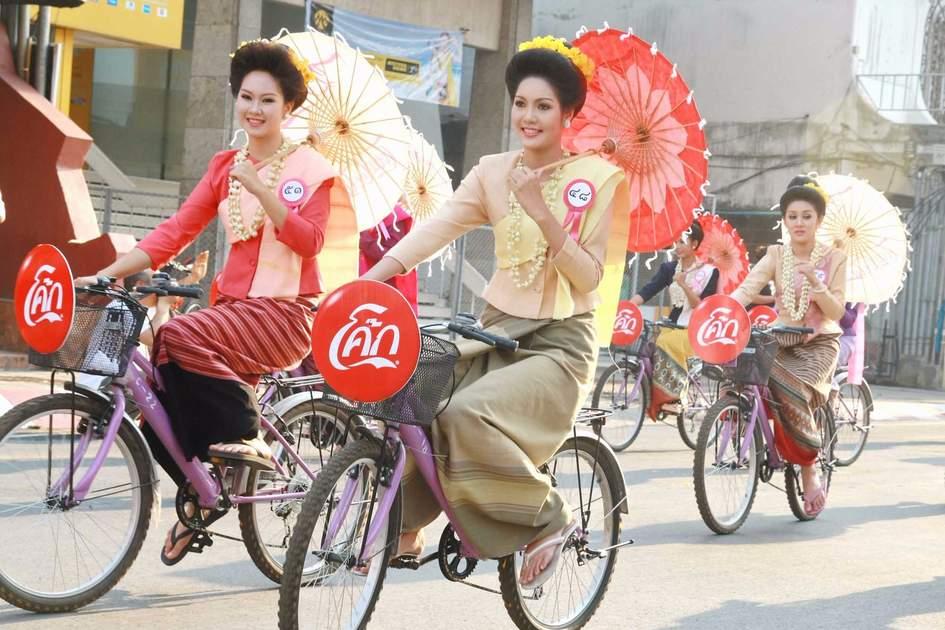 Songkran Festival parade in Chiang Mai, Thailand