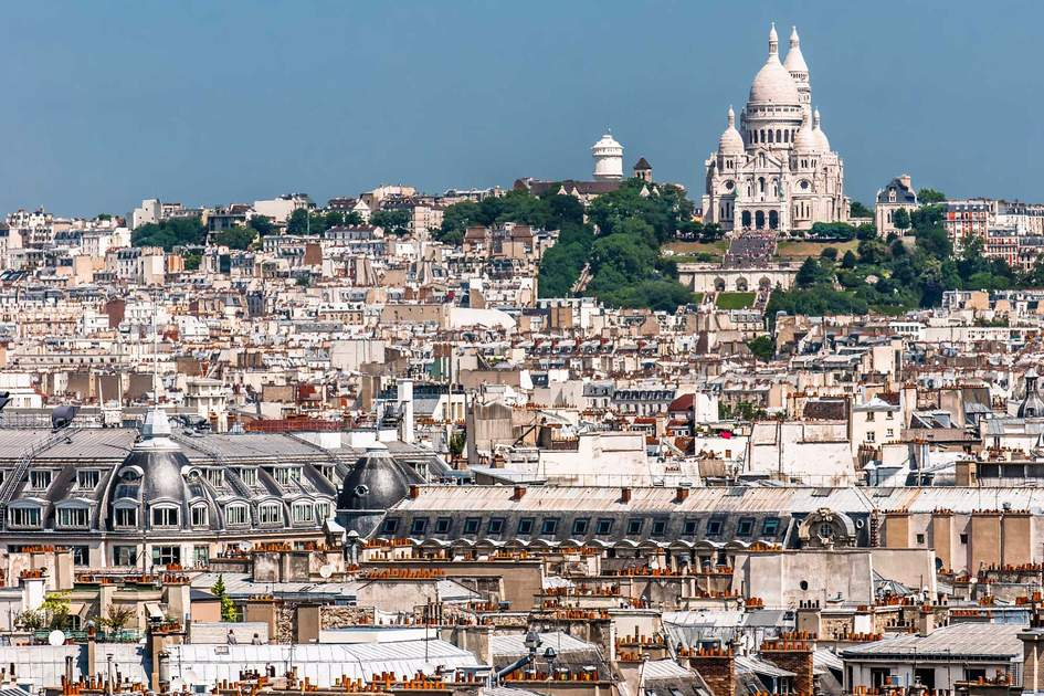 A view of Montmartre, Paris