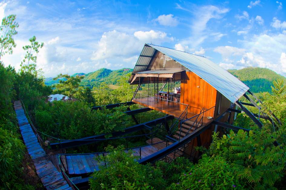 The Ark is located on stilts offering unrivalled views