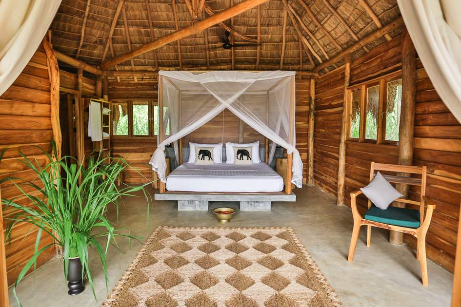 Gal Oya Lodge's rooms offer a relaxing place to retreat
