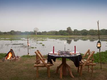 Food at The Mudhouse is included and is all sourced as locally as possible