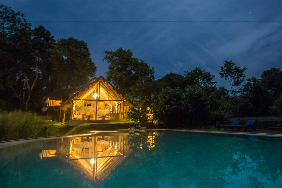 Gal Oya Lodge and accomodation at nighttime