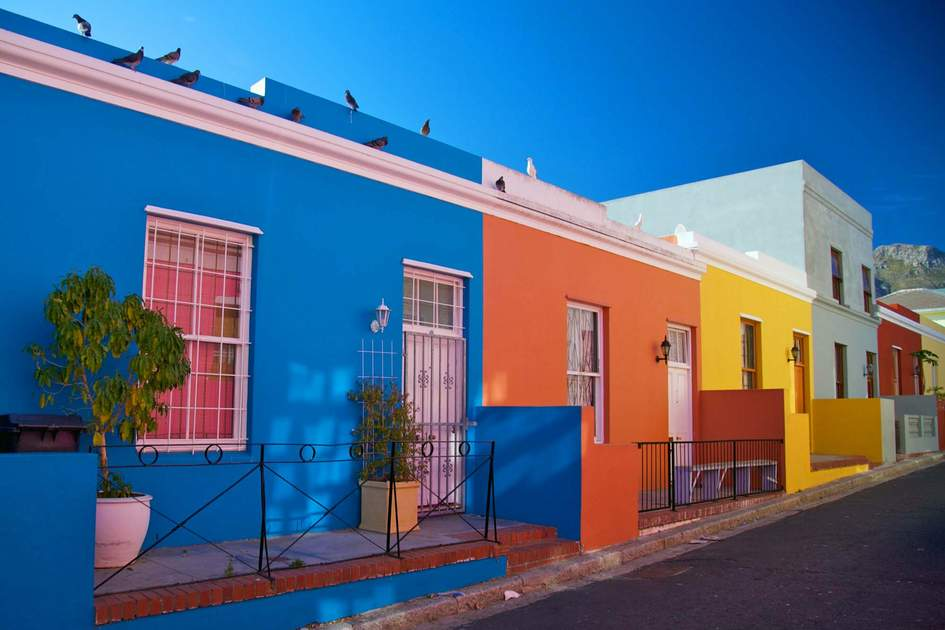 The colourful Bo-Kaap district in Cape Town, South Africa