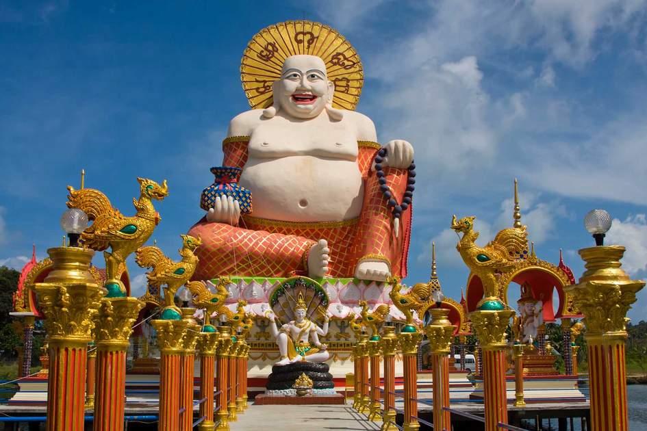 Smiling Buddha in Koh Samui, Thailand