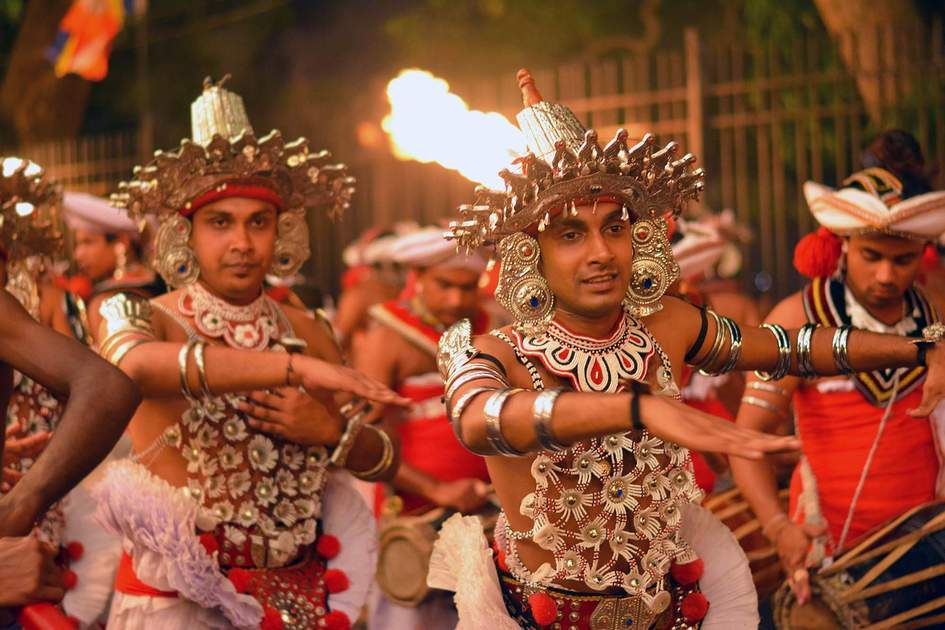 The Kandy Esala procession in Kandy, Sri Lanka. Photo: Shutterstock